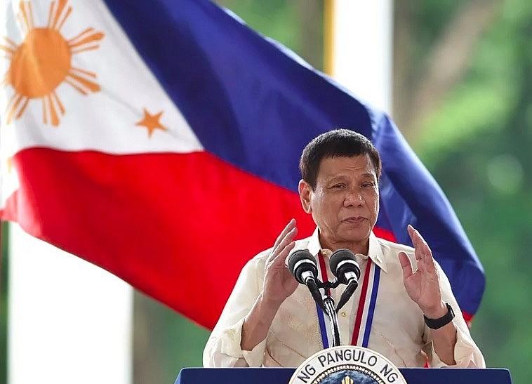 Philippine President Rodrigo Duterte speaks in Manila on Aug. 29. Photo: npr.org