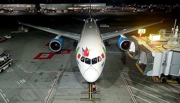 The Bamboo Airways aircraft. Photo: baogiaothong.vn