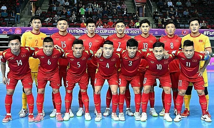 Vietnam squad at the FIFA Futsal World Cup 2021. Photo by Vietnam Football Federation. Photo: VnExpress
