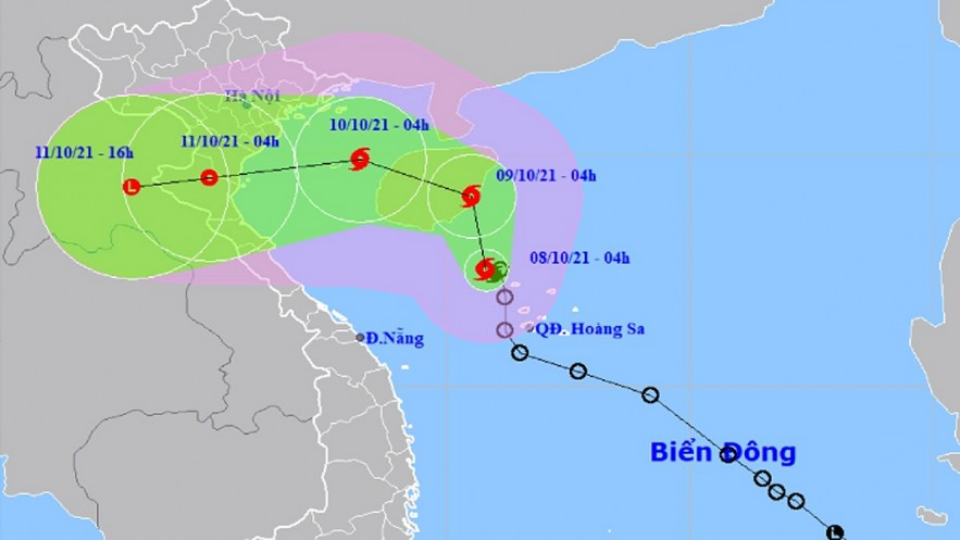 Storm Lionrock is expected to change its course before making landfall on October 11. Photo: VOV