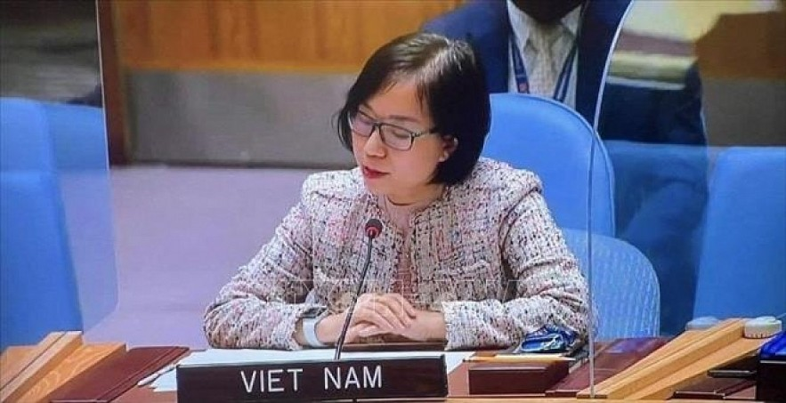 Nguyen Phuong Tra, deputy head of the Vietnamese Delegation to the United Nations. Photo: VNA