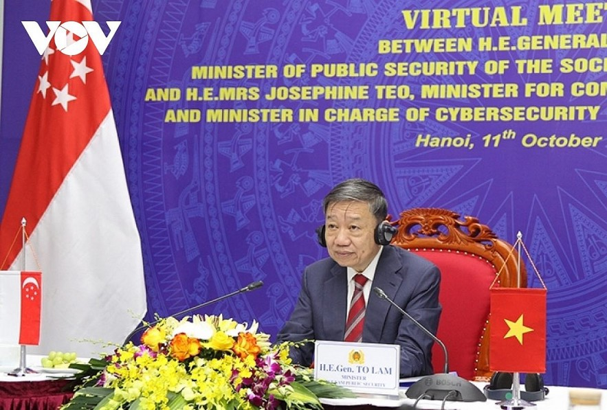 Vietnamese Minister of Public Security General To Lam. Photo: VOV