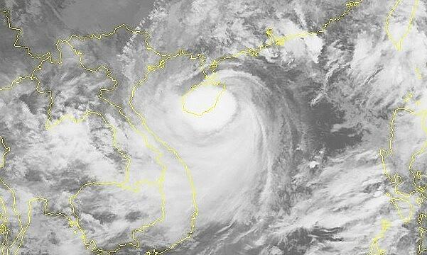 Satellite image of storm Kompasu, October 13, 2021. Photo: National Center for Hydro-Meteorological Forecasting