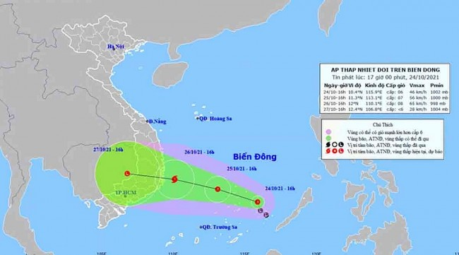 Vietnam News Today (October 25): A New Storm Likely to Form in Bien Dong Sea, Hit Southern Vietnam