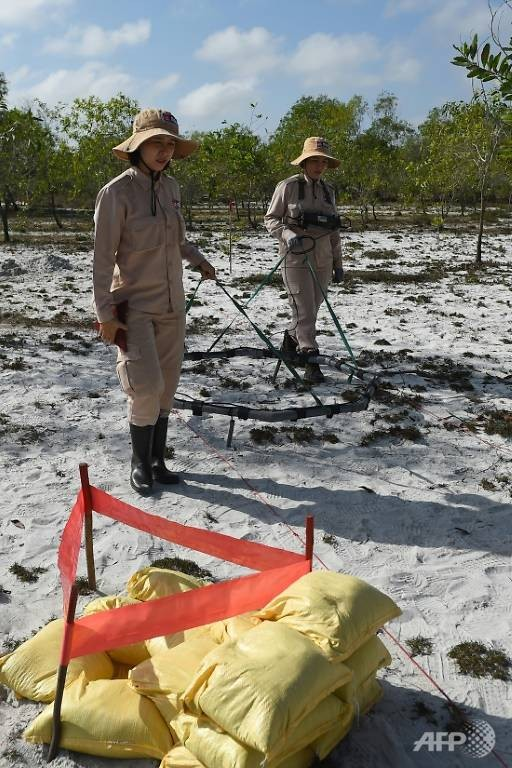 vietnamese women strive to clear war era mines