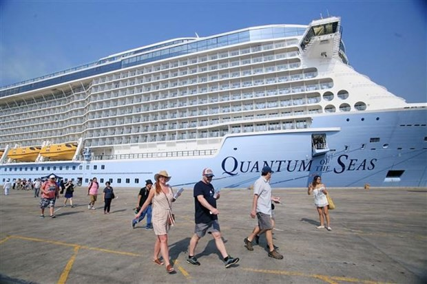 worlds most modern cruise ship arrives in hcm city