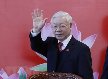 workers party of korea chief congratulates party general secretary nguyen phu trong