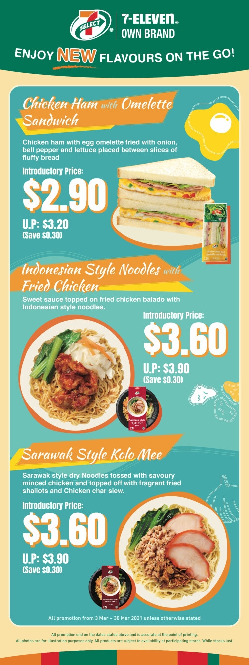 Taste the World with 7-Eleven's Latest Additions to its Very Own 7-SELECT Ready-to-Eat Range. First Stop, Southeast Asia!