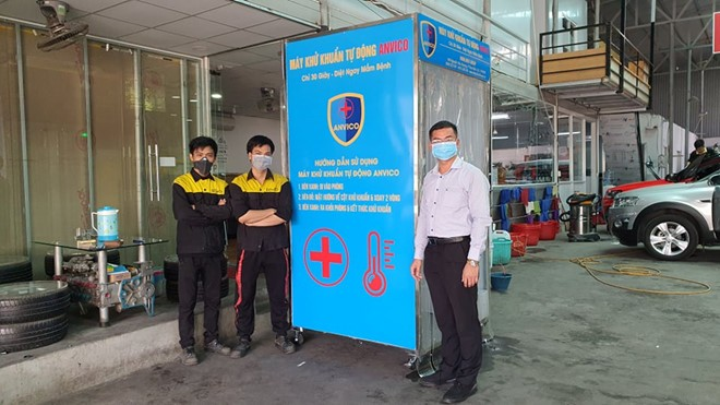 more vietnamese firms produce mobile covid 19 disinfection chambers as demand rises