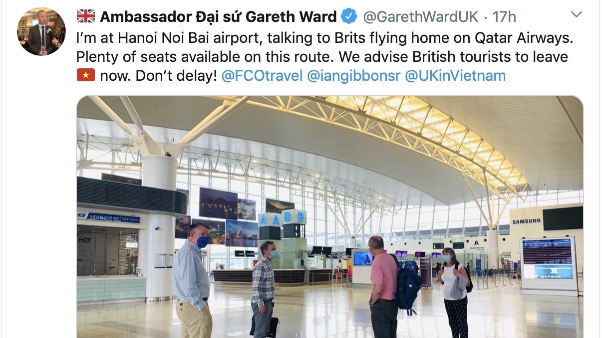 british ambassador clarifies his tweet advising brit citizens to leave vietnam now