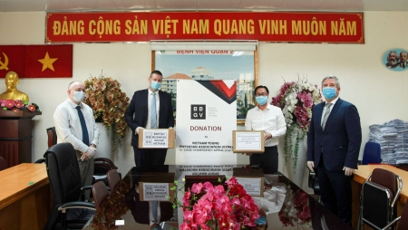 British Business Group Vietnam donates protective equipment for COVID-19 combat