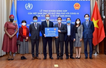 who boss thanks vietnam for usd50000 contribution to covid 19 response fund