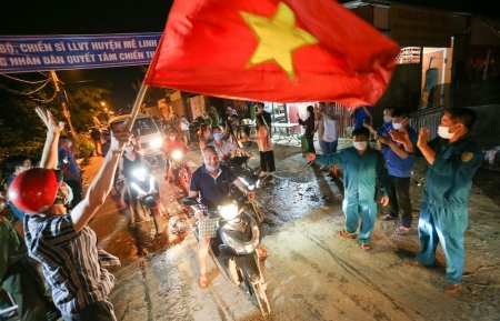 Residents in Hanoi outskirt burst with joy as 28-day COVID-19 lockdown ends up [Photo]