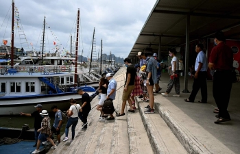 tourist back in ha long bay as domestic travel resumes