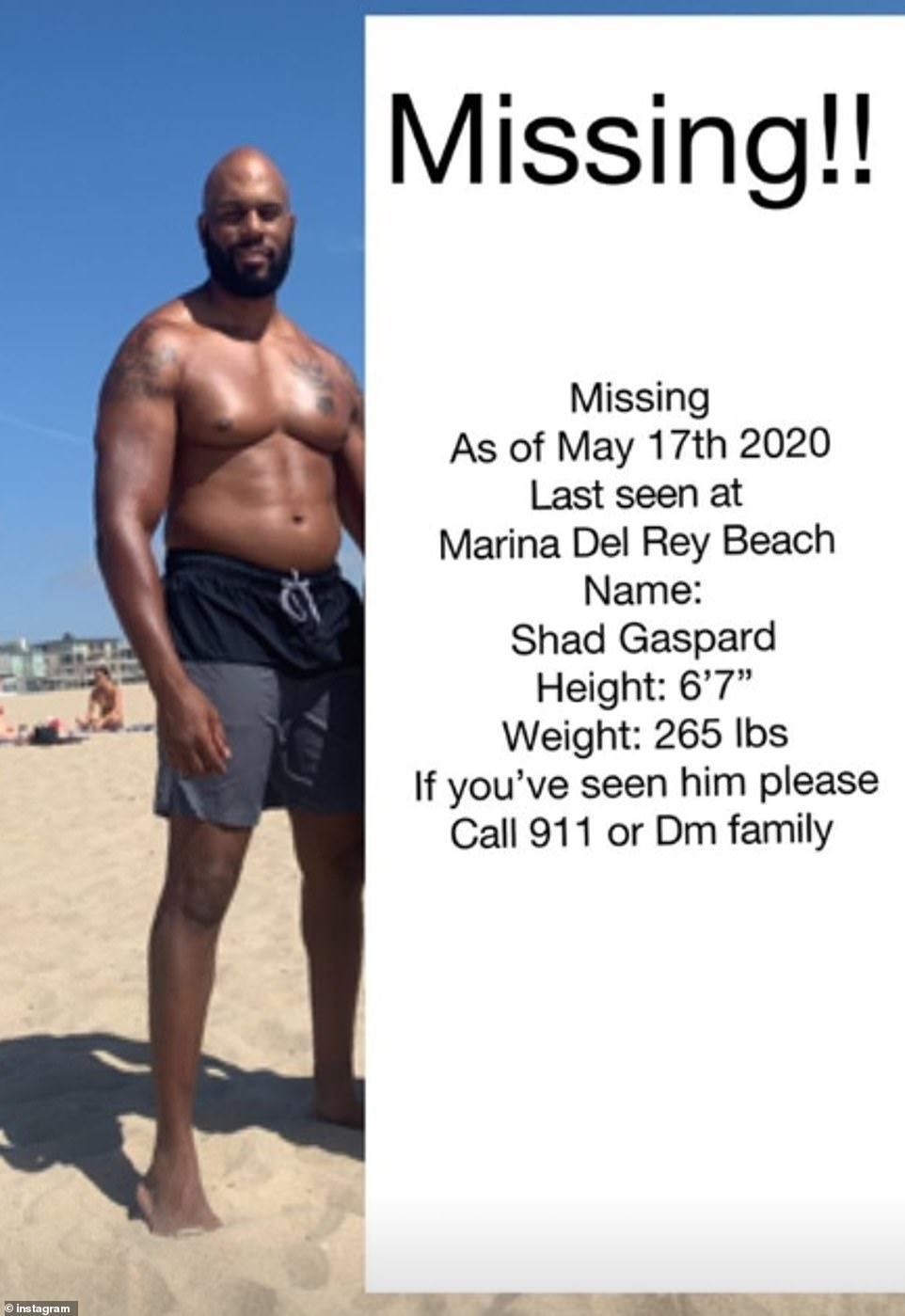 shad gaspard goes missing after beach swim details on what happened
