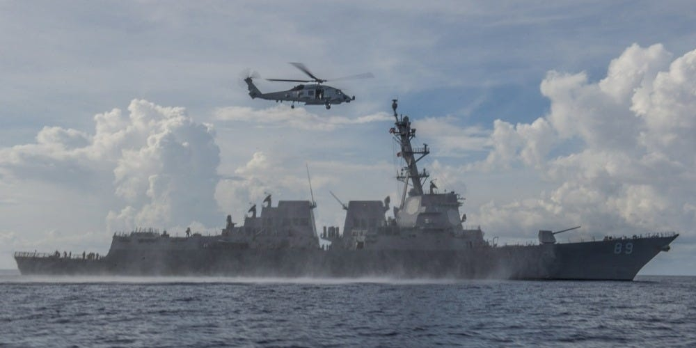 us sends another warship to challenge chinas south china sea claims