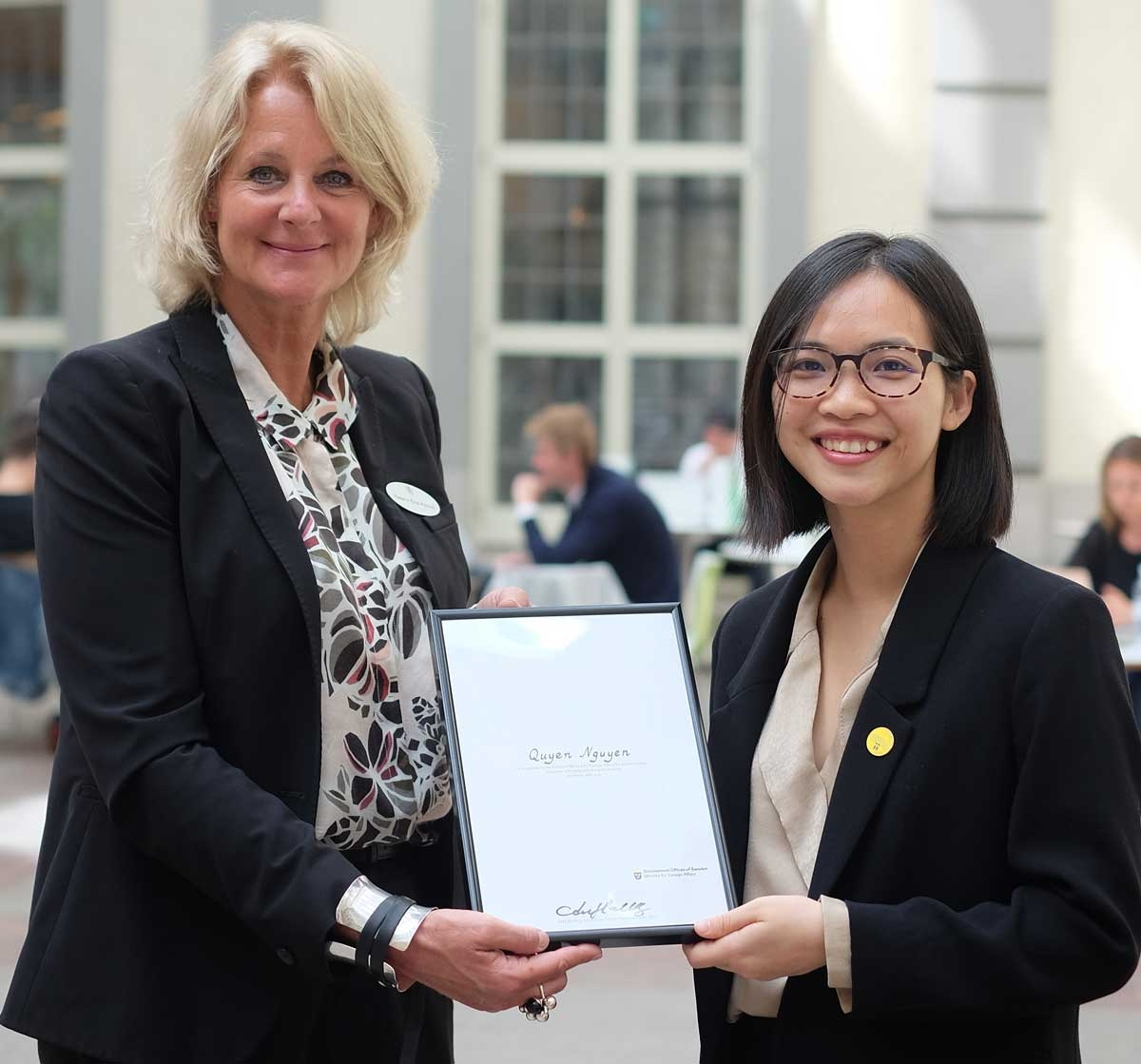 vietnamese female student awarded global swede of 2020