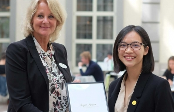 vietnamese female student awarded global swede of 2020