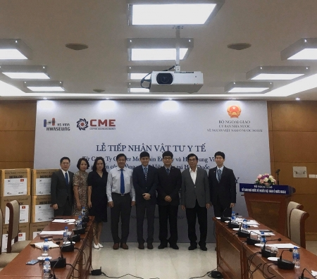 CME and HSV donate 25.000 face mask to Vietnamese community in RoK