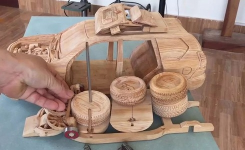 amazing vietnamese wooden car models hit foreign headlines