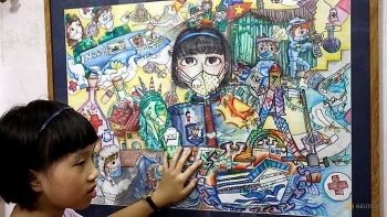 vietnamese 10 year old painter creates art from coronavirus chaos
