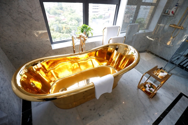 worlds first gold plated hotel opens its doors in vietnam
