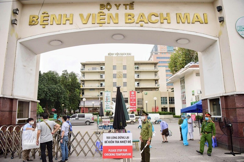 bach mai largest hospital in vietnam locked down