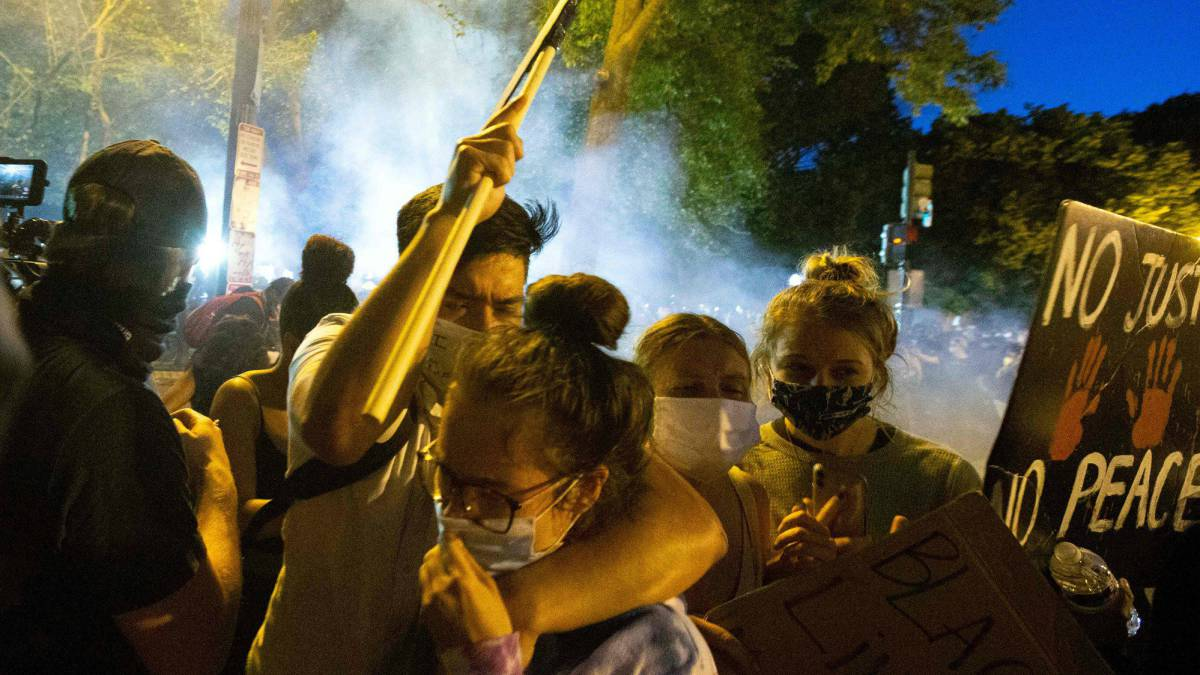 protest in us what did trump say about antifa and the riots