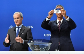 latest news champions league quarter final semi final draw