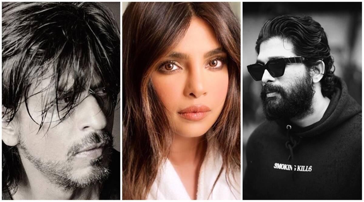 Allu Arjun feature in world's most in-demand actors list. (Photo: Shah Rukh Khan/Instagram, Priyanka Chopra/Instagram, Allu Arjun/Instagram)