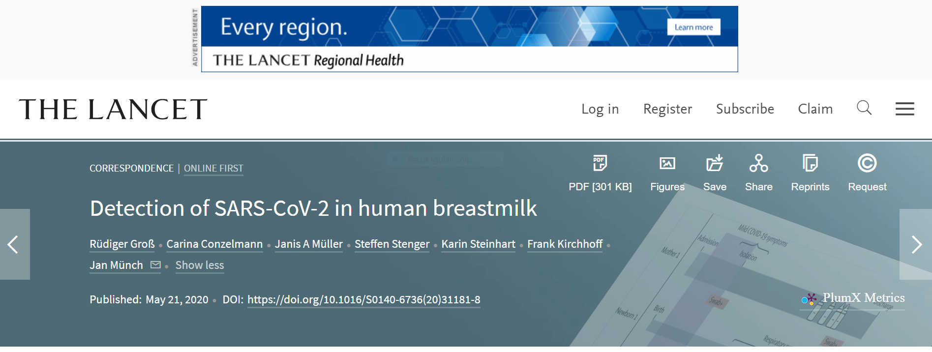 covid 19 detected in breast milk annouced german researchers