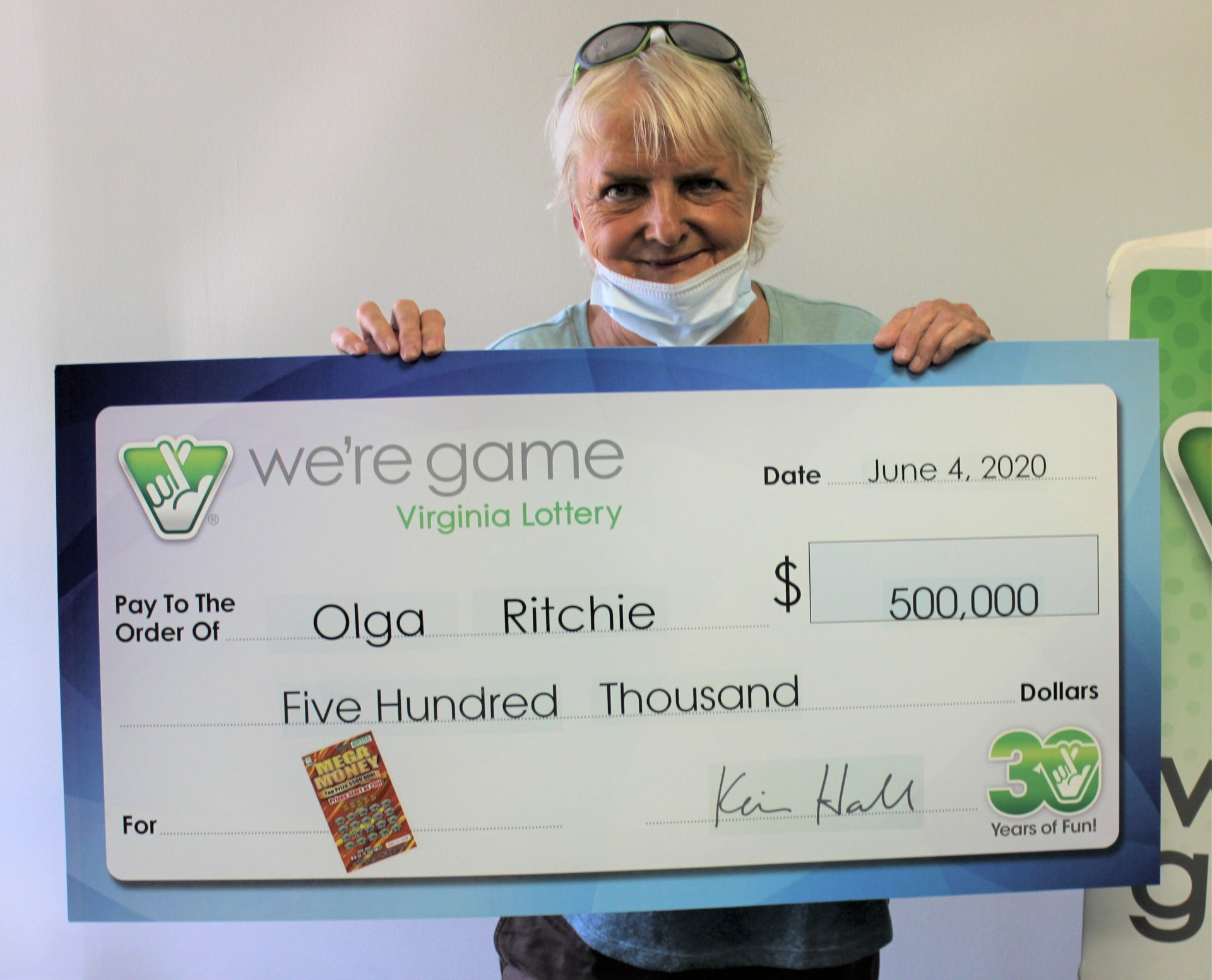 headache brings virginia woman big surprise usd500000 lottery jackpot