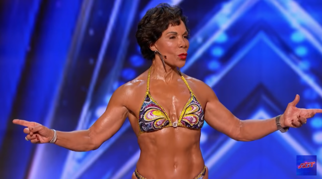 "73-Year-Old bodybuilder amazes with her incredible physique on ""America"