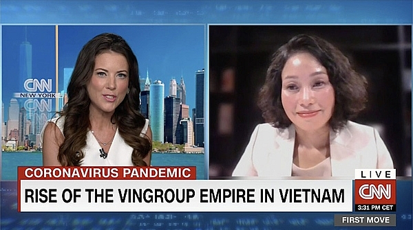 CNN live for impressive Vingroup