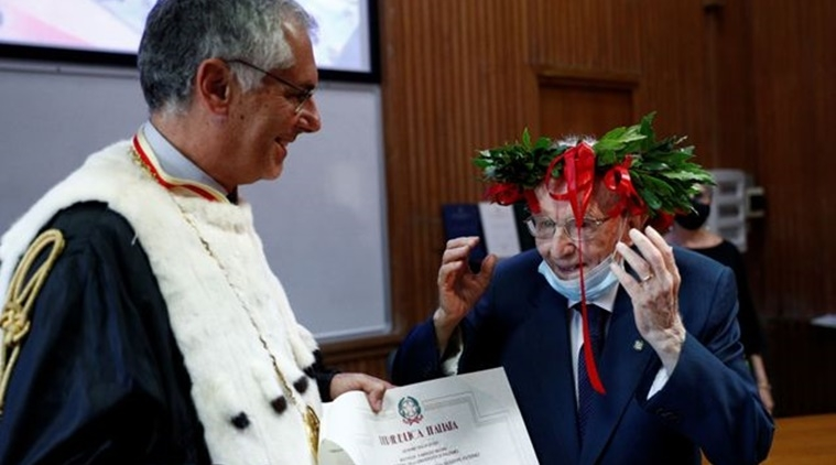true inspiration 96 year old man becomes italys oldest student to graduate with full honours
