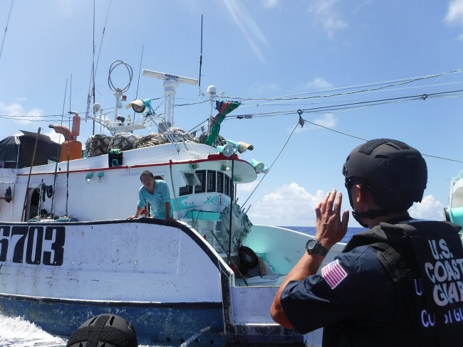The U.S. Coast Guard releases new plan to combat illegal fishing, focusing on fishing boats from China