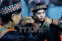 a wedding ceremony of red dao ethnics