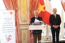 vietnam france mark 45th anniversary of diplomatic ties in paris