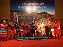 The 21st anniversary of South Africa's Freedom Day