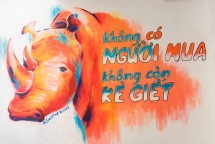 vietnamese french artist graffitis to thank covid 19 medics