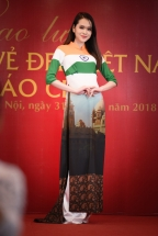 ao dai collection featuring national flags to be showcased at cannes festival