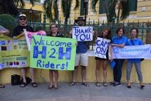 foreign friends complete 2000 km bike ride to support vietnamese children