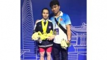 vietnamese female weightlifter wins three golds at continental championships