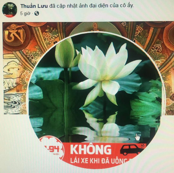 DUI is crime: Vietnamese Facebook users change profile photos to condemn drunk driving