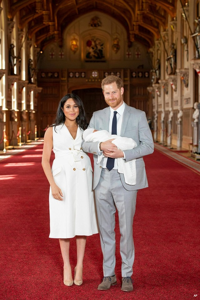 Prince Harry and Meghan show baby son Archie to the world