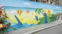 sri lanka ceramic mosaic mural unveiled on the hanoi ceramic mosaic wall
