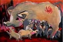 zodiac animal paintings decorated for tet holidays