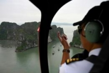vietnam launches helicopter rides in ha long bay