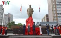 uncle hos statue inaugurates in lenins hometown