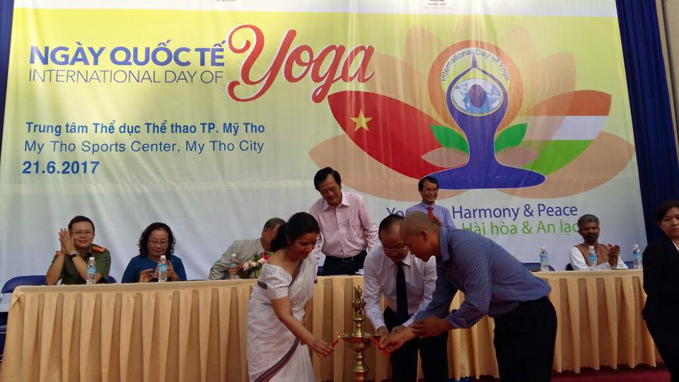 International Yoga Day celebrated in Tien Giang